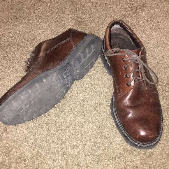 Rockport waterproof brown dress shoes size 11